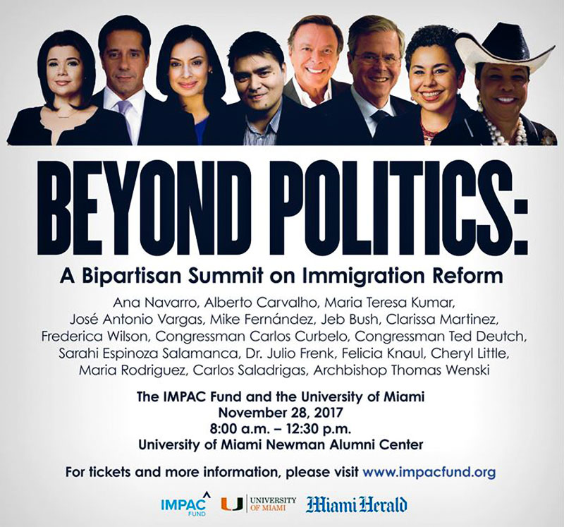 Miami Herald announces bipartisan immigration forum featuring the nation's most prominent political voices on the subject.