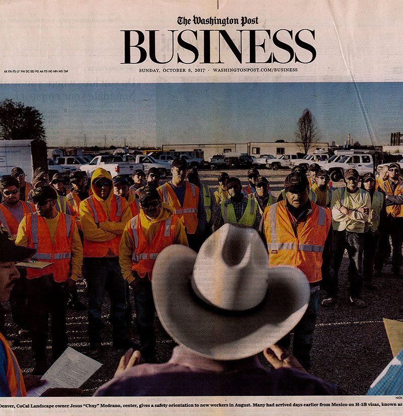 The National Hispanic Landscape Alliance works with the Washington Post in response to the growing seasonal worker crisis that is crippling industries across the country.